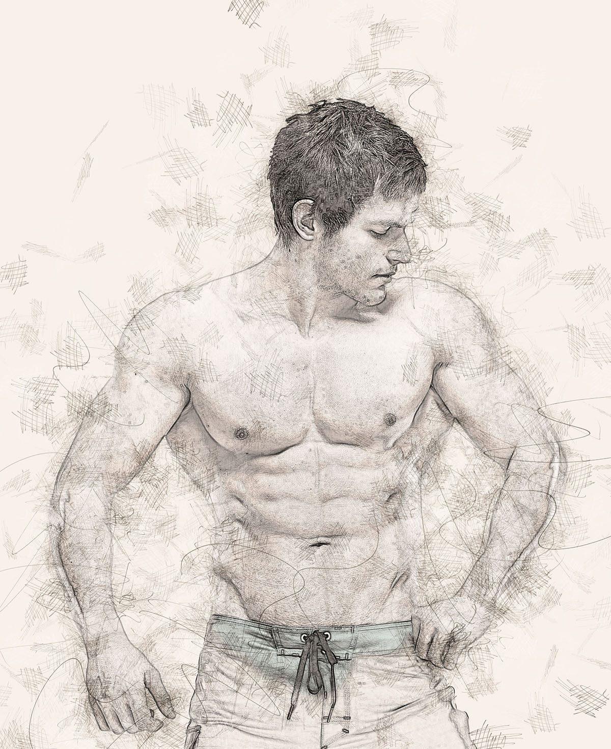 Realistic pencil sketch photoshop action v 3