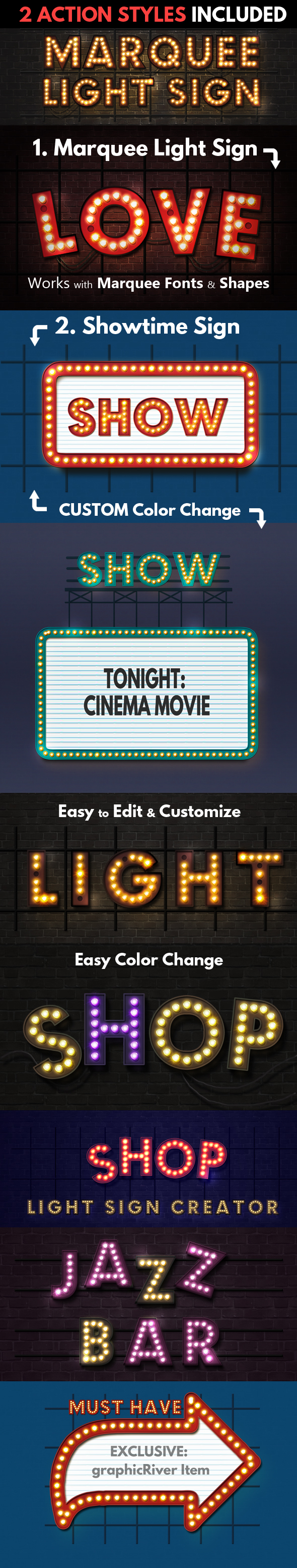 How to Create a Marquee Light Bulb Sign with Photoshop ...