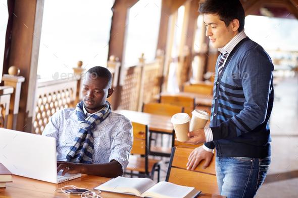 Student coffee break - Stock Photo - Images