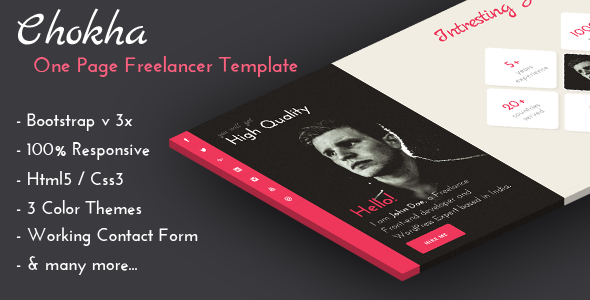 Chokha - One Page Freelancer Template