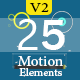 25 Motion Graphic Element Pack V2  - VideoHive Item for Sale