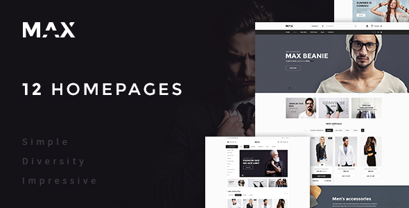 MAX – Multipurpose Ecommerce PSD Template