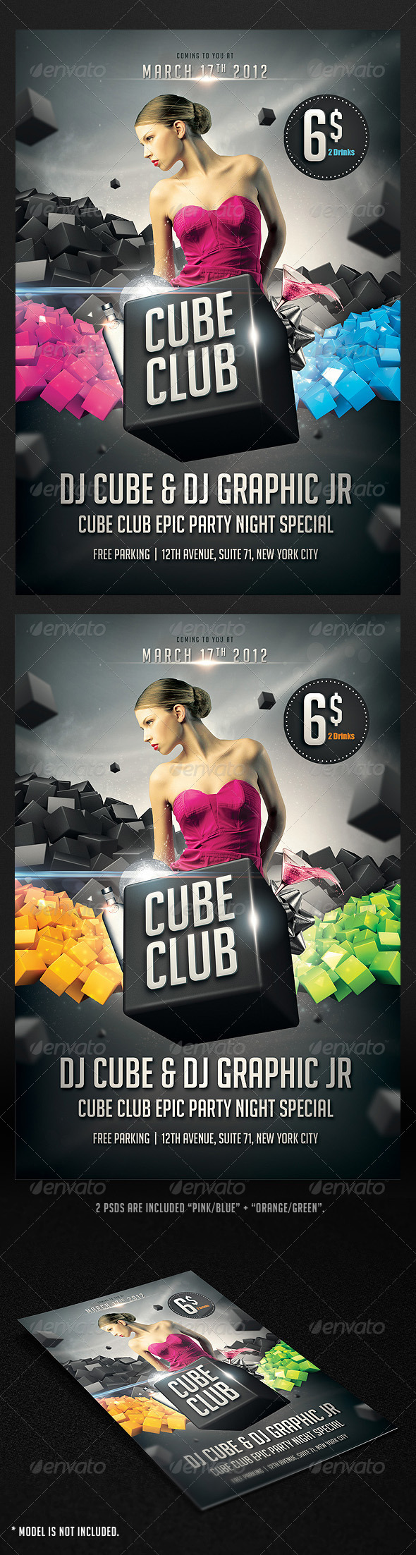 Cube Club Flyer - Flyers Print Templates