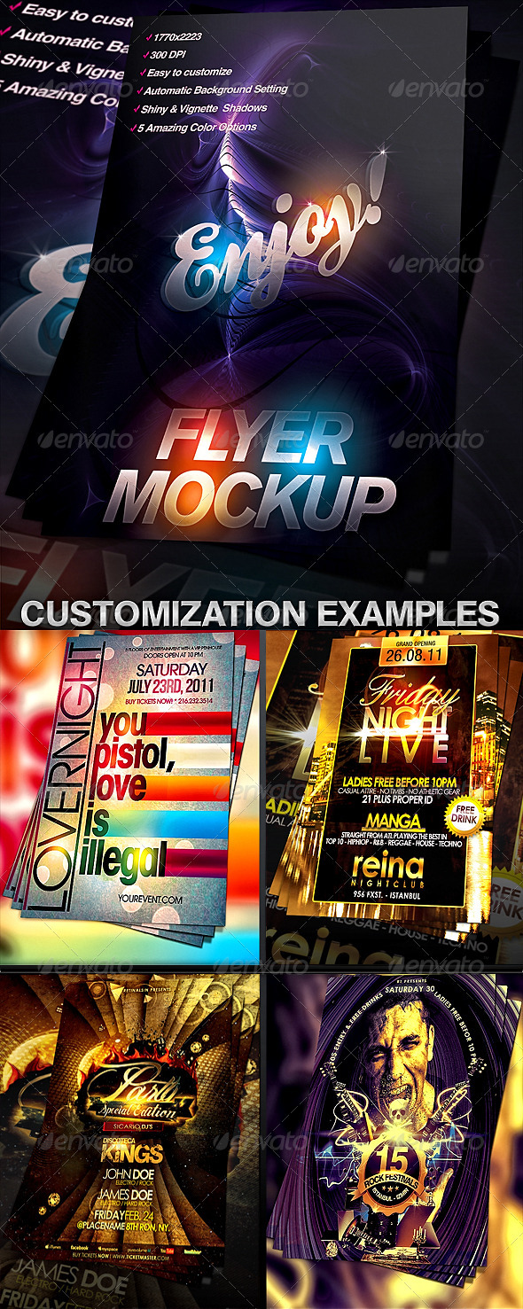 Flyer Mock-up Template - Flyers Print