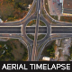 Highway Roundabout Traffic From Above - VideoHive Item for Sale