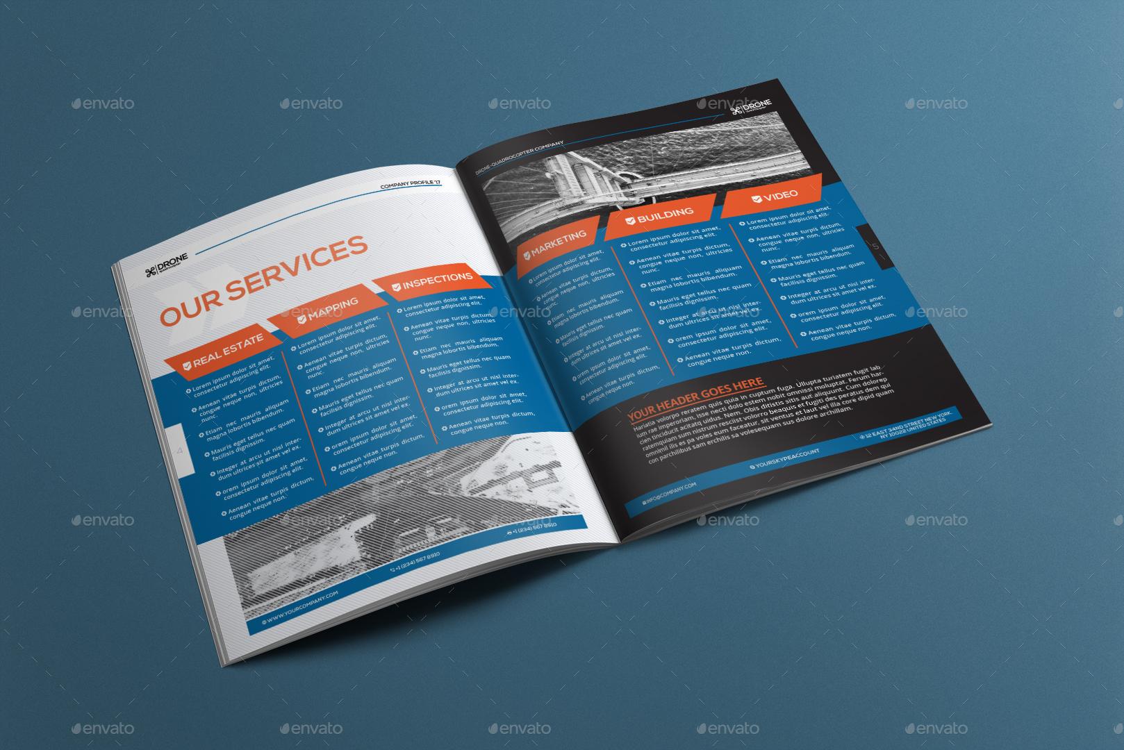 Drone Quadcopter - Company Profile | Business Proposal Template