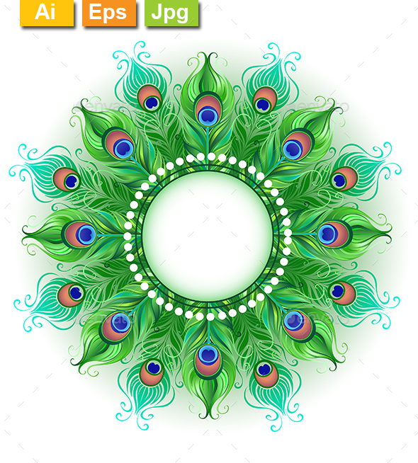 mandala of green peacock feathers by blackmoon9 graphicriver game clip art free online games clip art free