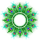 Mandala of Green Peacock Feathers - GraphicRiver Item for Sale
