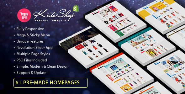 KuteShop - Multipurpose Responsive Shopify Theme - Shopify eCommerce