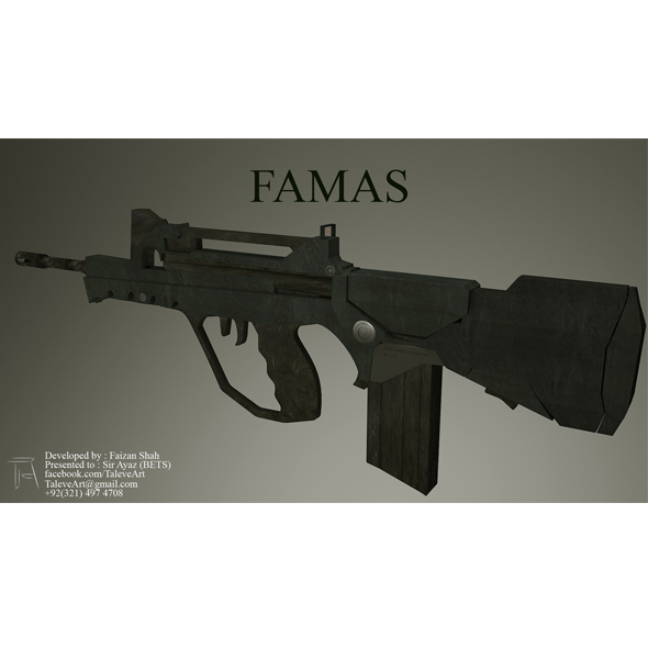 FAMAS Armor - 3DOcean Item for Sale