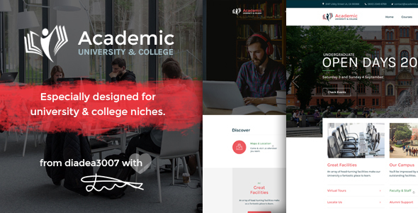 Academic - University & College PSD Template - Corporate PSD Templates
