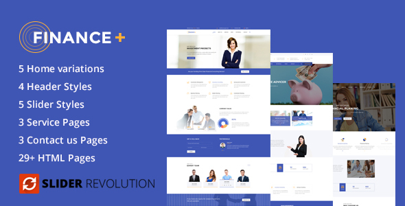 Finance+ – Business and Finance Corporate HTML5 Template