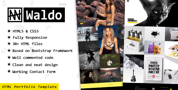 Waldo – Creative Portfolio & eCommerce HTML Website Template