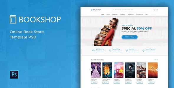 Bookshop – Online Book Store Template PSD