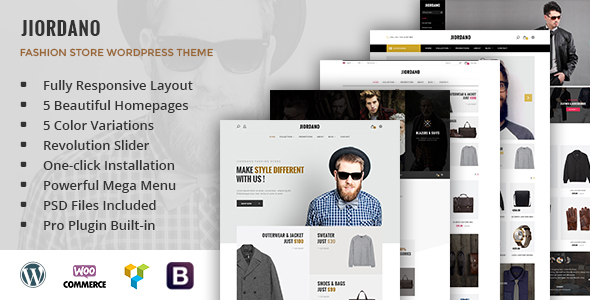 Jiordano – Responsive Fashion WooCommerce WordPress Theme
