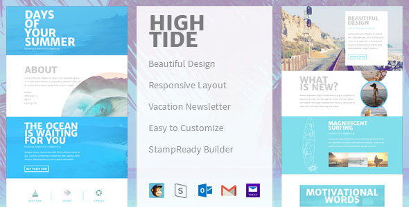 High Tide – Creative Email Newsletter