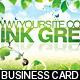 Think Green Business Card - GraphicRiver Item for Sale