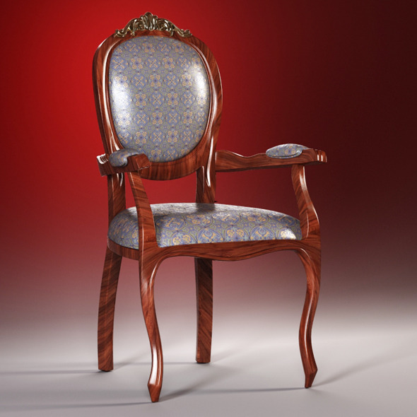 High quality model of classic chair - 3DOcean Item for Sale