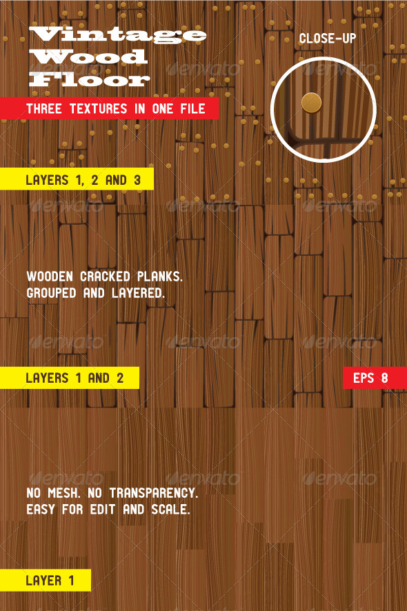 Old Wooden Floor - Objects Vectors