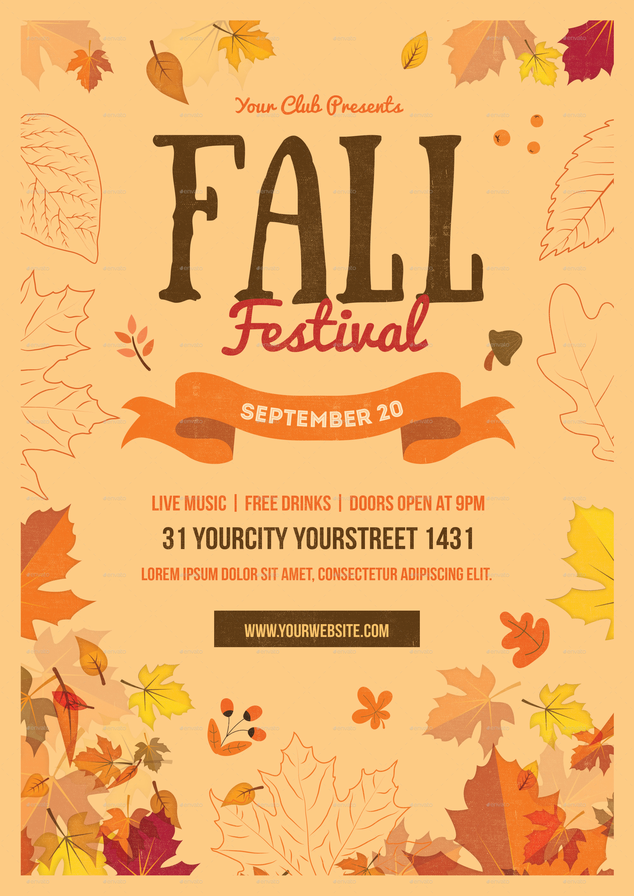 Fall Festival Flyer by infinite78910 | GraphicRiver