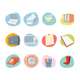 Universal Icons Retro Revival Collection - Set 2 - GraphicRiver Item for Sale