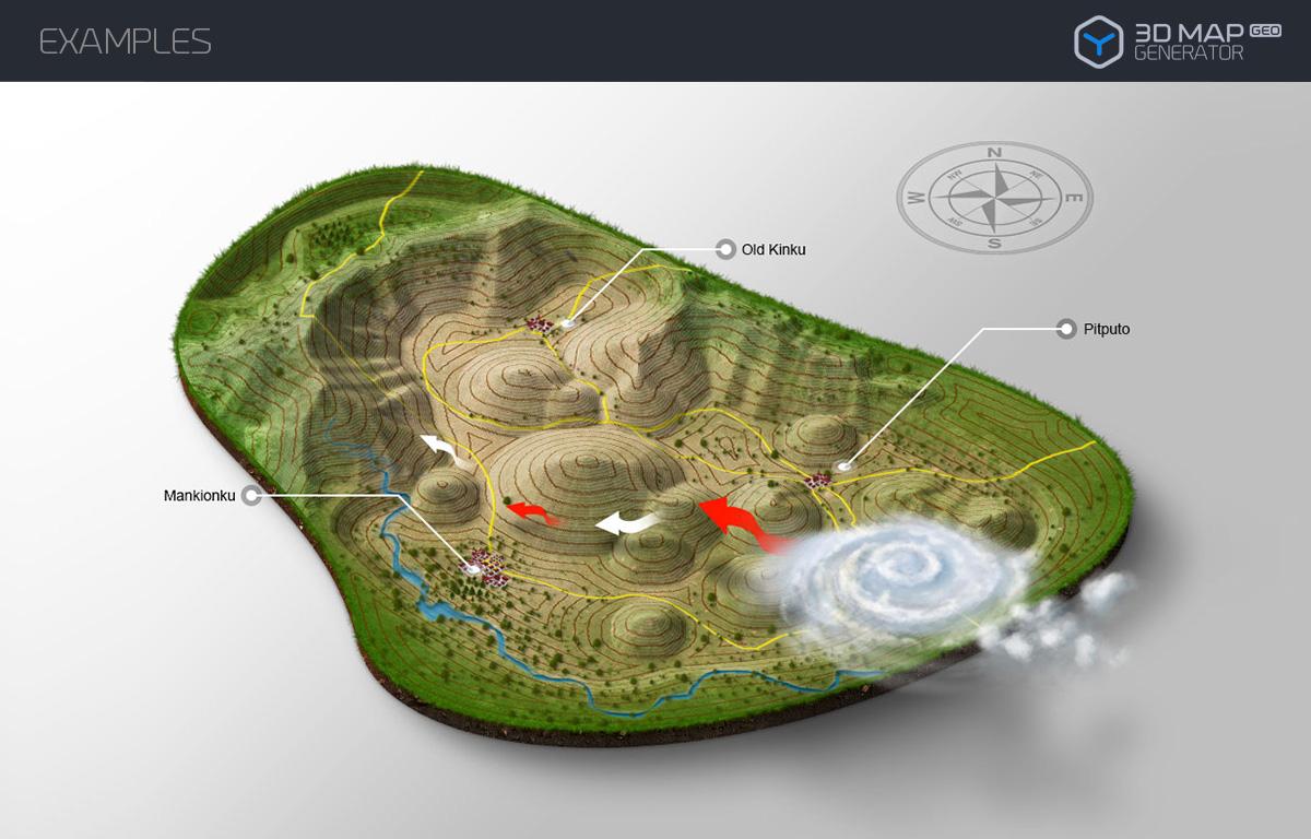 3d map generator geo by orange box graphicriver for Envato graphicriver