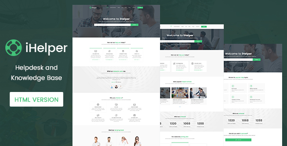 iHelper – Helpdesk and Knowledge Base Template HTML