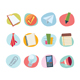 Universal Icons Retro Revival Collection - Set 7 - GraphicRiver Item for Sale