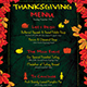 Thanksgiving Menu Template V1 - GraphicRiver Item for Sale