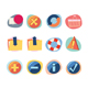 Web Icons Retro Revival Collection - Set 8 - GraphicRiver Item for Sale