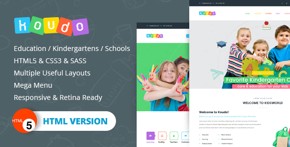 Koudo EducationHTML5 Template