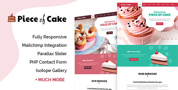 Piece of Cake – Responsive HTML5 Template