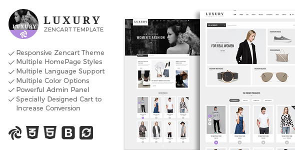 Luxury – Responsive Zencart Theme