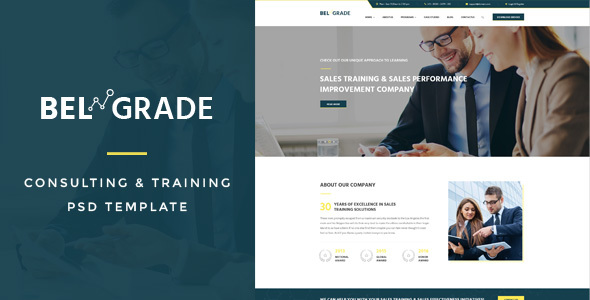 Belgrade : Training & Consulting PSD Template - Marketing Corporate