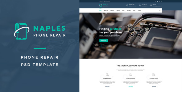 Naples : Phone Repair PSD Template - Business Corporate