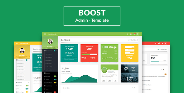 Boost – Responsive Bootstrap3 Admin Template