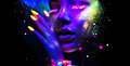 Fashion woman in neon light, portrait of beauty model with fluor - PhotoDune Item for Sale