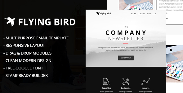 Flying Bird Multipurpose Email Template