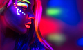 Fashion model woman in neon light, portrait of beautiful model g - PhotoDune Item for Sale