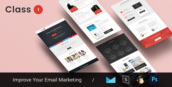 Class One – Multipurpose & Responsive Email Template + Builder