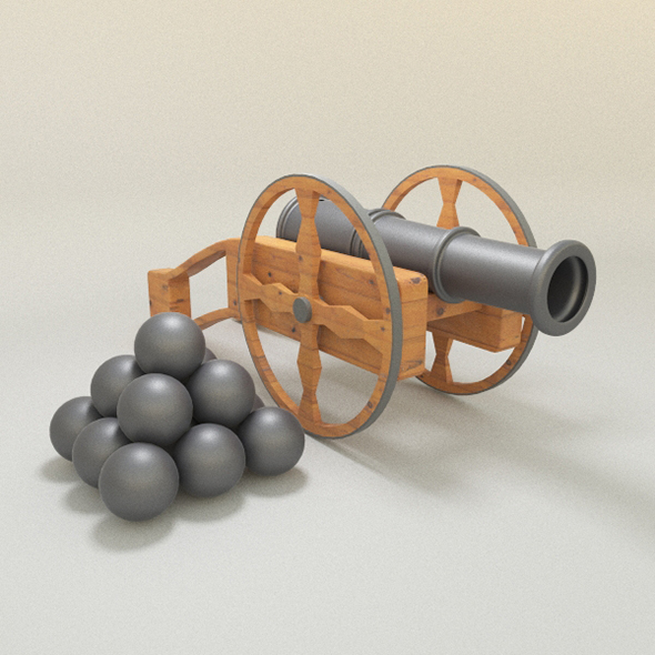 Field Gun - 3DOcean Item for Sale