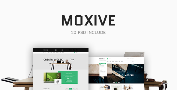Moxive - eCommerce PSD Template - Retail PSD Templates
