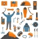 Climbing Icons Set - GraphicRiver Item for Sale