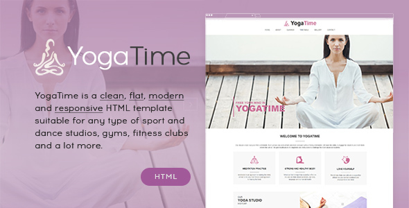 Yoga Time – Sport, Fitness and Yoga Onepage HTML Template