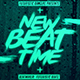 New Beat Time | Futuristic Beatmaker Flyer PSD Template - GraphicRiver Item for Sale