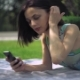 Girl Using Smartphone Outdoor - VideoHive Item for Sale