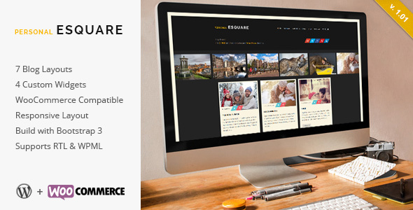 Esquare - Responsive WordPress Blog Theme
