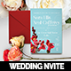 Vintage Floral Wedding Invitation Card