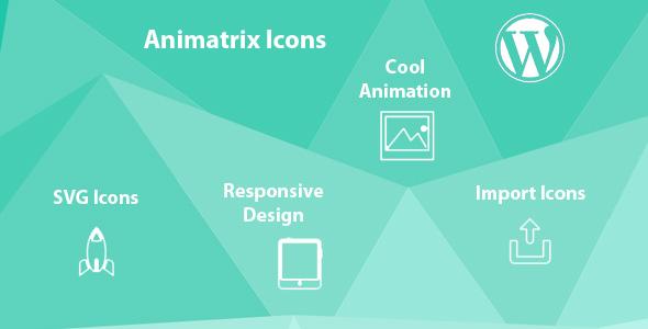 Animatrix Icons SVG Animated WordPress Plugin