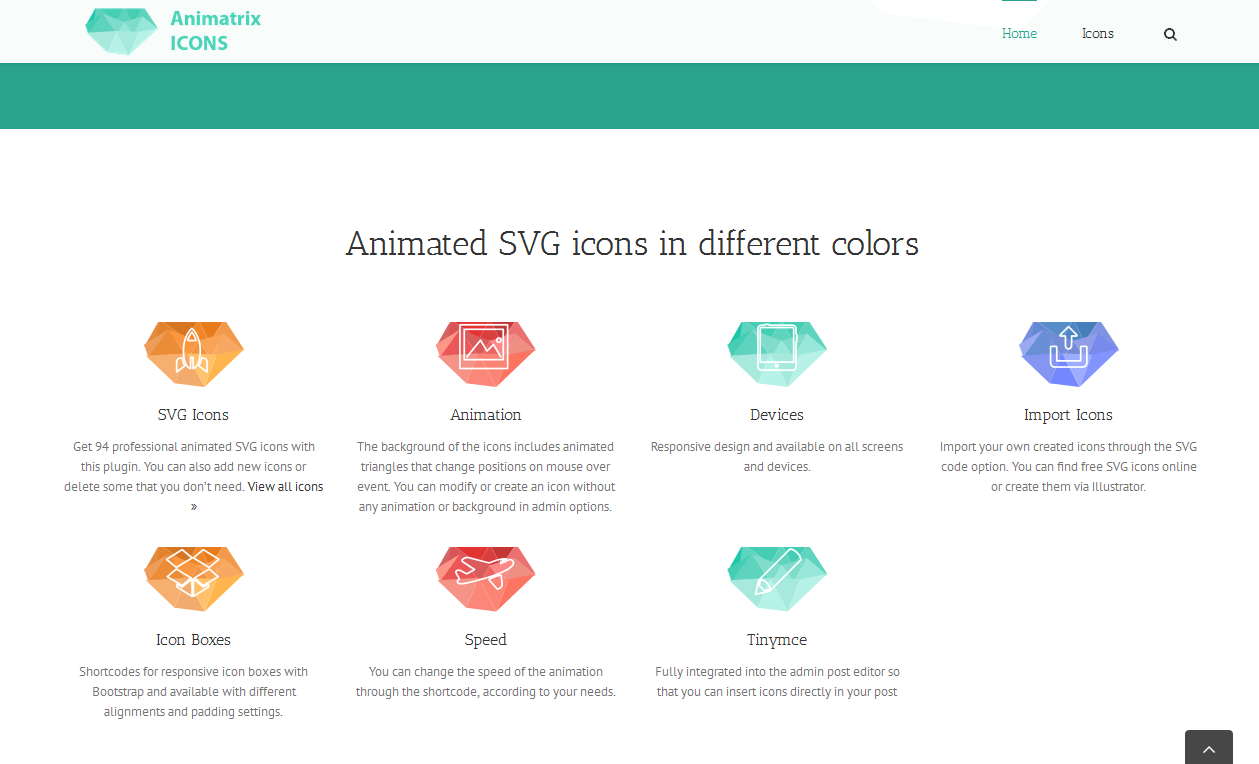 Animatrix Icons - SVG Animated WordPress Plugin by Wpicode - CodeCanyon